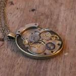 Pretty steampunk style pendant from..
