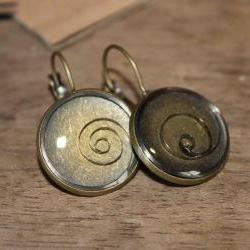 Pretty earrings from vintage watch parts